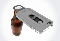 OPENA | IPHONE 4 BOTTLE OPENER CASE love the way the apple logo shows @blessthistuff