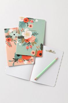 I NEED these. so lovely. Sweet Briar Notebooks $12.95