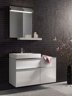 Collection de salle de bains LOVELY - Meubles point d'eau, composables - 59 cm - ALLIA innove pour vous depuis 1892