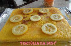 Bolo de limão sem glutén