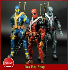 6 PVC The Avengers Super Hero Justice league X-MAN Deadpool Action Figure toys Collection Model Toy 3 Style Figurines D'action, League Of Heroes, Deadpool Action Figure, Stress Relief Toys, Electronic Toys, Figure Model, Comic Book Heroes, Geek Culture, Classic Toys