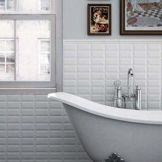Métro white matt 7.5x15 cm