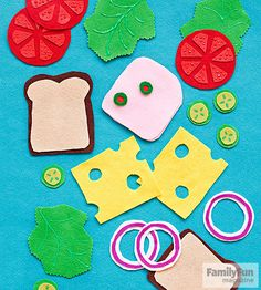 Whip up these felt foods in a flash so you're little short-order chefs can mix and match to build the perfect sandwich -- no sewing required!