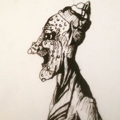 Day three of #drawtoberween2015 I know I'm a little behind but I'll catch up here's a goblin for day three #inkdrawing by dominicramirez