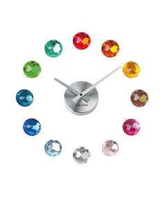 Take a look at this Multi-Colour Gemstone Wall Clock by Present Time on #zulily today!