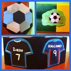 Cajas decoradas de fútbol!!