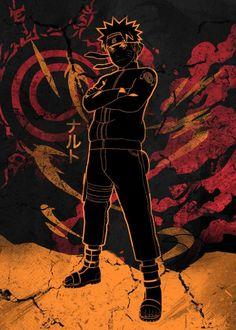 Heroic Power by Fanfreak Naruto Shippuden Nine Tails, Naruto Shippuden Anime, Kakashi, Gaara, Spiderman, Japanese, Ninja, Seal, Prints