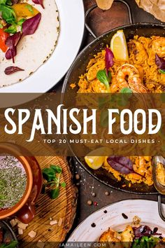Spanish Food: Top 20 Must-Eat Authentic Local Dishes in Spain (+ Drinks) Spanish Dishes, Spanish Food, Travel Guides, Travel Tips, Tapas Menu, Global Food, Drinking Around The World, Weeknight Recipes, Mouth Watering Food