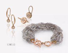 Scarab diamond, labradorite and red gold, jewels.  #scarabjewellery #jewels #jewellery #gemstones #gold