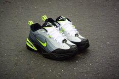 Nike Air Monarch Neon 95 Custom by Shme - Nike Monarch Customs Nike Air Monarch, Dad Shoes, Floral Shorts, Tommy Hilfiger, Air Jordans, Kicks, Dads, Sneakers Nike, Footwear