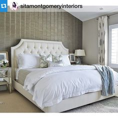 Slaying the sophisticated look @sitamontgomeryinterior for the tag #masterbedroom #sophisticated #bedroom #beautiful