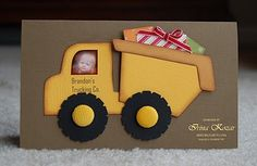 Interactive Dump Truck Card  by Irina