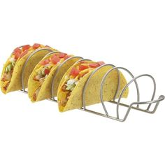 Crate & Barrel Taco Rack ($9.95) ❤ liked on Polyvore featuring home, kitchen & dining, food, food and drink, comida, fillers, food & drinks and crate and barrel