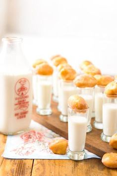 Donut holes and milk   Fresh. Local. Good. Food Group.