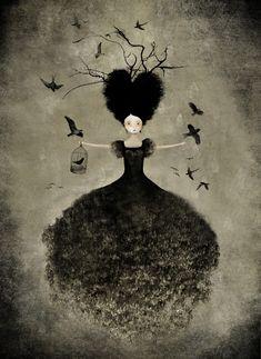 """""""La Sorciere Noire"""", Anne-Julie Aubry, www.annejulie-art.com"""