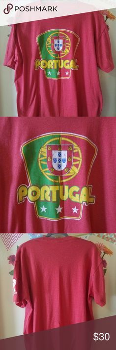 """RARE FIFA WORLD CUP Brasil 2014 Portugal Shirt 2XL FINAL SALE!! RARE FIFA WORLD CUP Brasil 2014 Portugal Short Sleeve Men Red Cotton 2XL XXL Excellent Used Condition  Nice rare FIFA WORLD CUP Brasil 2014 Portugal shirt  Side Zipper   60% Cotton  40% Ployester  Measurements:  Length: 29.5"""" in Bust: 26.5"""" in  Thank you for looking!  DI-MS04-1 FIFA WORLD CUP Brasil Shirts Tees - Short Sleeve"""