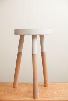 handmade wooden stool