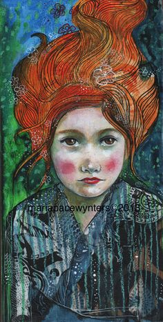 Determined Dreamer- Original mixed media painting by Maria Pace-Wynters