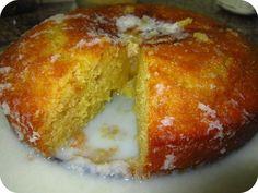 """Bolo de Côco Molhadinho Ingredientes para o bolo: 4 ovos 250 grs de farinha de trigo 250 grs de açúcar 125 grs de manteiga 50 grs de côco ralado 1 c. de chá de fermento em pó 6 c. de sopa de leite Na Bimby No copo da Bimby, coloque a """"borboleta"""", deite os ovos inteiros e o açúcar e bata 4 minutos, 37º, velocidade 3 1/2. Retire a """"borboleta"""" e adicione a manteiga, o leite e o côco e programe 1 minuto, velocidade 3 1/2. Junte a farinha e o fermento e bata 15 segundos, velocidade 3. Unte e…"""