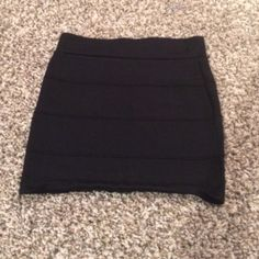 Pencil skirt Black mini pencil skirt. Gently used. Great quality. Skirts Mini