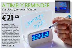 SCRIBBLE CLOCK _ The clock you can scribble on!