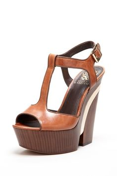 Need these! - Vince Camuto - Babe T-Strap Cutout Wedge Sandal