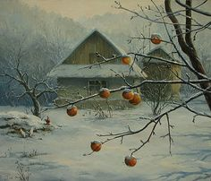 Winter Painting by Igor Ropyanyk Ukranian Artist ~ Blog of an Art Admirer