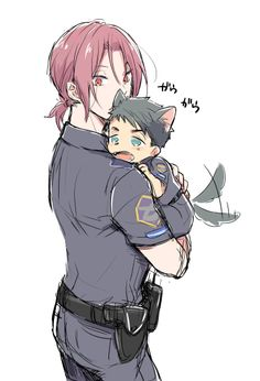 Rin and puppy Sousuke // Free!