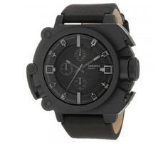 Diesel Men's DZ4243 Black Leather Analog Quartz Watch