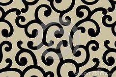 Arabic style pattern.Raster illustration.