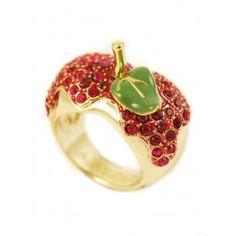 Disney Couture Snow White Gold Poison Apple Ring, Gold