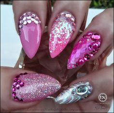 Pink Shell Pearl, Arctic Tides, with Glitter & Bling!..