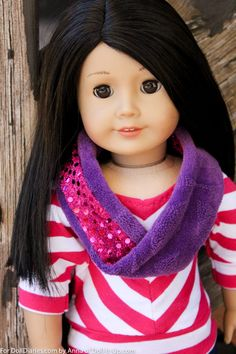 Sew a Simple Scarf with a Little Sparkle for Dolls.