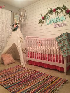 Baby girl nursery tribal nursery boho nursery pink nursery tee pee ruffle curtains floral nursery The post Baby girl nursery tribal nursery boho nursery pink nursery tee pee ruffle c appeared first on kinderzimmer. Tribal Nursery, Floral Nursery, Boho Nursery, Nursery Room, Girl Nursery, Boy Room, Floral Bedding, Nursery Bedding, Curtains For Nursery