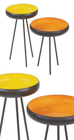 Add a pop of color and a dash of retro ambiance to a casual space with this fun duo of Forsythe Tables. Sporting a metal construction, this pair of side tables brings the minimalist look of spindly met...  Find the Forsythe Tables - Set of 2, as seen in the Free Shipping Day: Furniture Collection at http://dotandbo.com/collections/free-shipping-day-furniture?utm_source=pinterest&utm_medium=organic&db_sku=114229