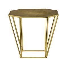 Bloomingville - Pentagonal Table - Brushed Gold
