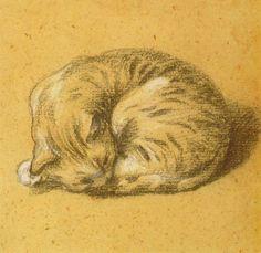 Chat Endormi (Thomas Gainsborough. Rijks Museum Amsterdam).