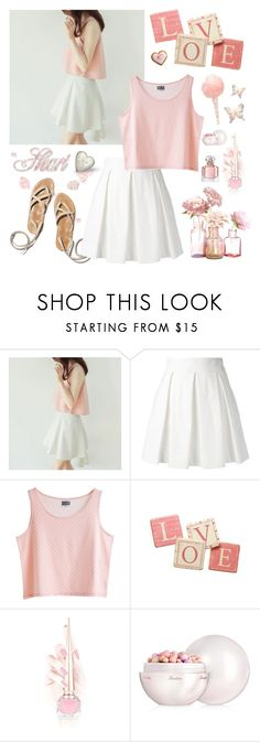 """Cute Pastel Outfit"" by whims-and-craze ❤ liked on Polyvore featuring Boutique Moschino, MTWTFSS Weekday, Pier 1 Imports, Christian Louboutin, Cotton Candy and Guerlain"