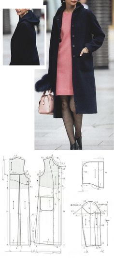 Amazing Sewing Patterns Clone Your Clothes Ideas. Enchanting Sewing Patterns Clone Your Clothes Ideas. Coat Patterns, Dress Sewing Patterns, Clothing Patterns, Make Your Own Clothes, Diy Clothes, Fashion Sewing, Diy Fashion, Japanese Sewing Patterns, Sewing Blouses