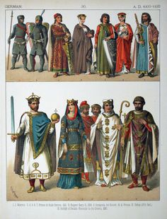 German dress 1000-1100 [Costumes of All Nations, 1882]