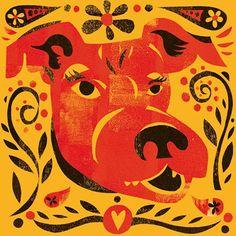 """Michael Wertz- """"Dog"""" Chinese Festival Zodiac"""