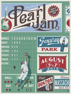 Pearl Jam Steve Thomas Boston Poster Release