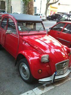 #2CV #Citroen #Red