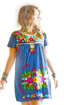 Embroidered Dress Tunic. This would make me SO happy to wear it. Must have.