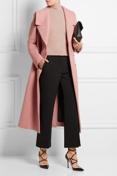Pastel-pink wool-blend Concealed snap fastenings through front 50% wool, 25% wool, 25% acrylic Dry clean Made in Italy