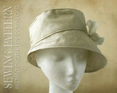 SEWING PATTERN Kimberly 1960's/modern bucket von ElsewhenMillinery