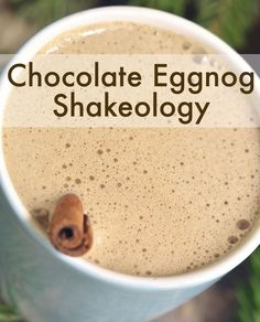 Chocolate Eggnog Shakeology -- Holiday cheer in a cup...with a scoop of Shakeology for good measure. // Thirsty Thursday // holiday recipes // healthy recipes // beachbody // beachbody blog