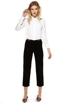 Celine Chain Velvet Trouser Pant