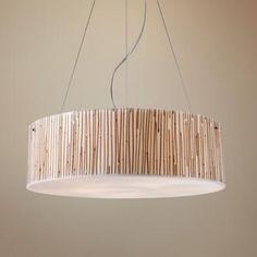 Modern Organics Collection Bamboo Stems Pendant Light $540