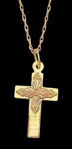 Black Hills Gold Cross Necklace